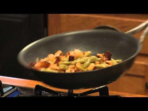 Pan Roasted Yukon Gold Potatoes w Local Green Beans & Fried Eggs
