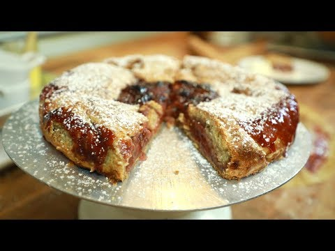 Strawberry & Rhubarb Crostata from Huckleberry Bakery & Cafe - Gemma's Bigger Bolder Baking