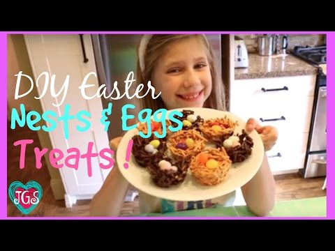 DIY Mini Eggs in Nests Treats   How to make Quick and Easy Snacks for Spring   best friends