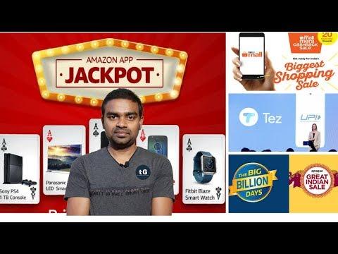 Amazon App Jackpot Offer, Flipkart - Laptop 50% Discount, Google Tez , Paytm iPhone, Tech Prime #43