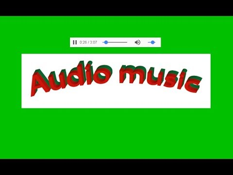 How to add audio player in website by html with notepad