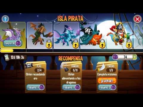 Dragon city | Isla pirata Premios y tiempos de Items