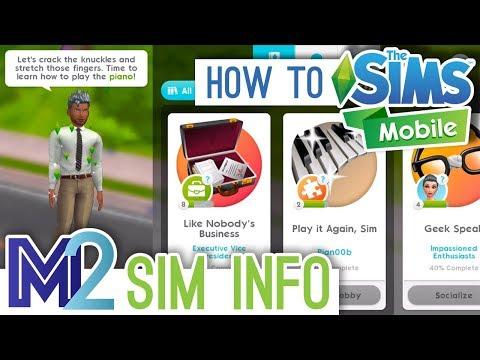 Sims Mobile - Sim + Household Info Panel