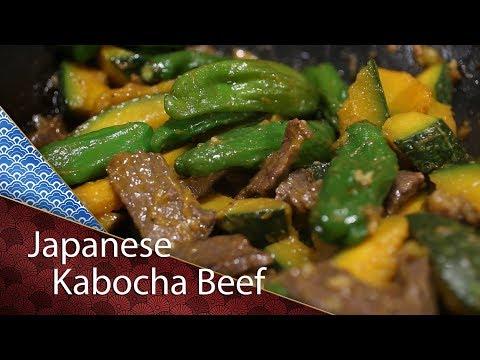 Kabocha Beef stir fry- Cooking Japanese Recipe