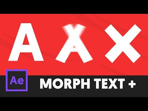 How to Morph TEXT in After Effects CC (Tutorial) - T026