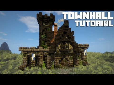 Minecraft TUTORIAL - Town Hall / Town Centre [ + Download ]