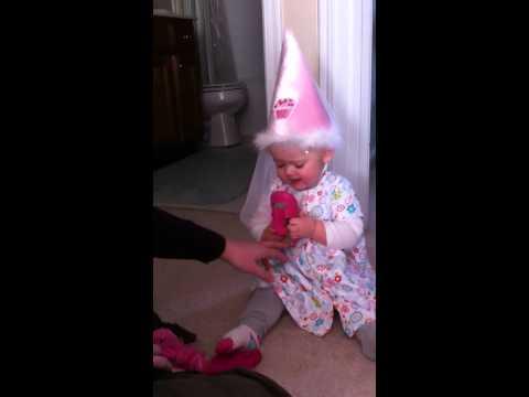 J in her princess hat
