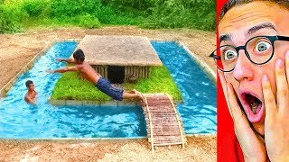 They Built An INSANE SECRET UNDERGROUND POOL HOUSE!