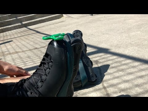 INSANE ROLLERBLADING FIDGET SPINNER TRICKS