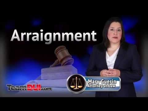 DUI Arraignment | First Court Appearance | Motion To Suppress