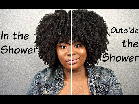 Wash n Go - Outside the Shower VS In the Shower | Hair Comparison Series | TGIN | Bubs Bee
