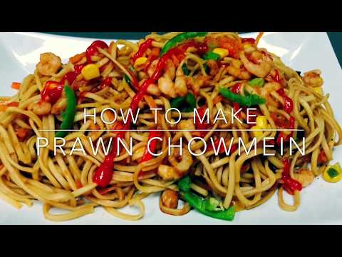 Prawn Chowmein Recipe / Chinese Food Recipe / How To Make Prawn Chowmein