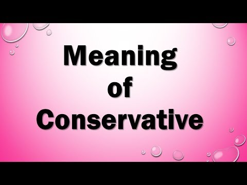 Meaning of Conservative