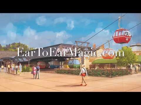 Disney Skyliner Construction Wall Concept Art - Epcot International Gateway