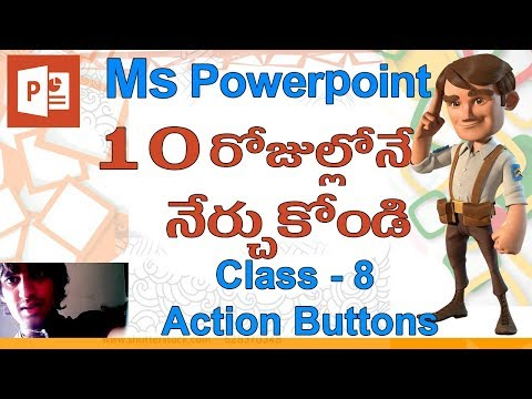 Powerpoint in Telugu | Class - 8 |🤘| Action Buttons ?!?