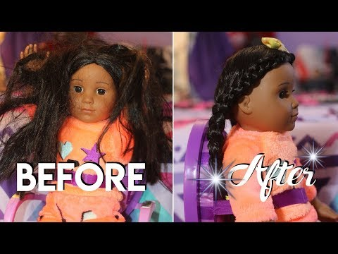 AMERICAN GIRL DOLLS HAIRSTYLES | KJ TAKEOVER | YOUTUBE KIDS