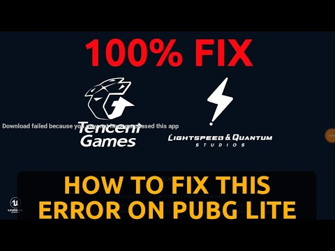 PUBG Lite download failed because you may not purchased this app