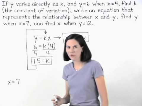 Direct Variation | Constant of Variation | MathHelp.com