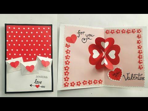 DIY Valentine Pop Up Card Ideas/ How to Make Simple ans Easy Valentine Pop Up Card