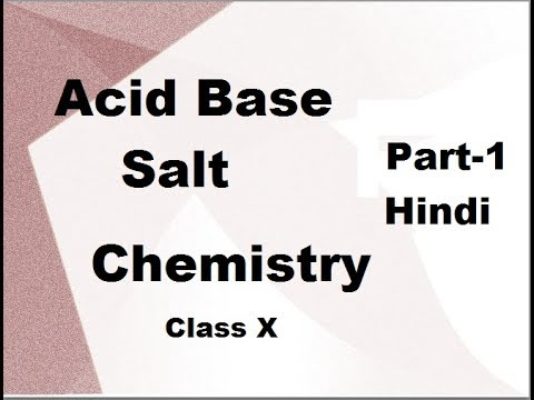 Acid base and Salt  Class 10 X   Hindi Part 1