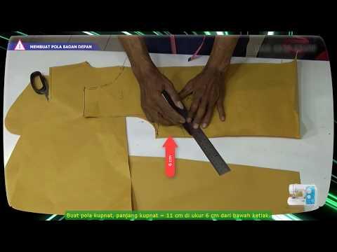 Cara membuat pola dan menjahit baju blus wanita sederhana menggunakan mesin jahit portable BAGIAN 1
