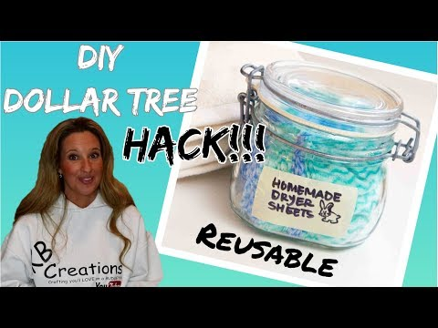 EASY DIY Dollar Tree REUSABLE DRYER SHEETS | Dryer Sheets HACK!!!