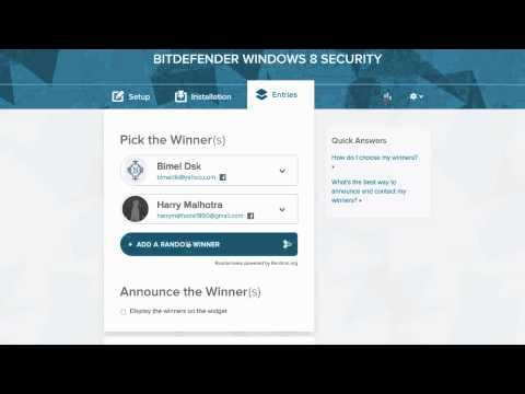 Bitdefender Windows 8 Security License Winners