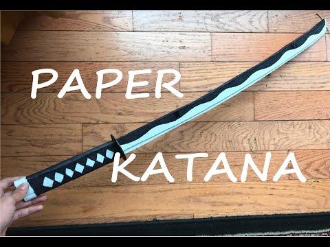 How To Make A Paper Katana