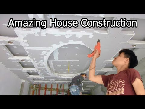 House Construction Installation Plaster Ceiling living room -  Decorate Ceiling House