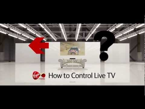 How to control live TV on the Virgin Media TiVo service