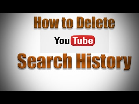 How to Delete YouTube Search History 2016