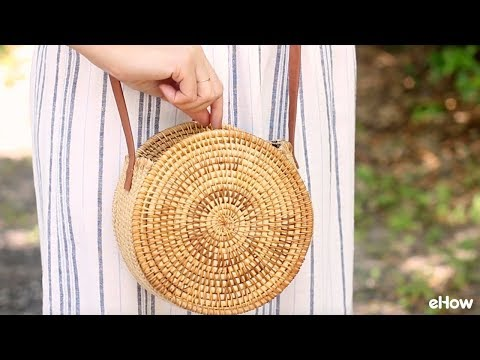 DIY Round Straw Basket Bag