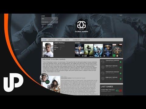 Awesome Gaming Clan Website gestalten! [Speedart]