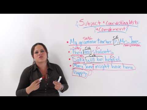 English Sentence Formation: Subject - Connecting Verb - Complement