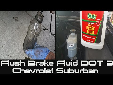 How to Flush Brake Fluid on Chevrolet Suburban | Tahoe | Bleeding or Flushing Your Brake Fluid DOT 3