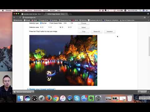 How to resize an image for YouTube Channel Art online