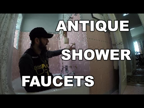 HOW TO REPAIR ANTIQUE SHOWER FAUCET | THE HANDYMAN