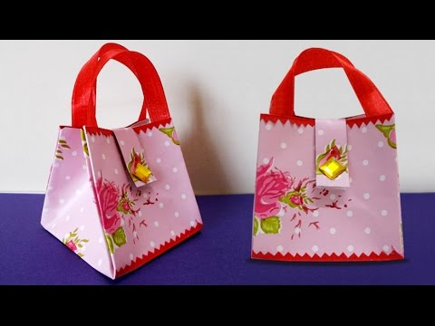 DIY Paper Crafts : How to Make Handmade Mini Paper Bag | DIY Projects