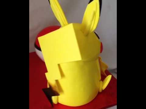 Pikachu cake Pokémon ball fondant cake