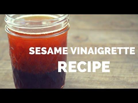 Sesame Vinaigrette Dressing Recipe - Easy Homemade Salad Dressing Recipe