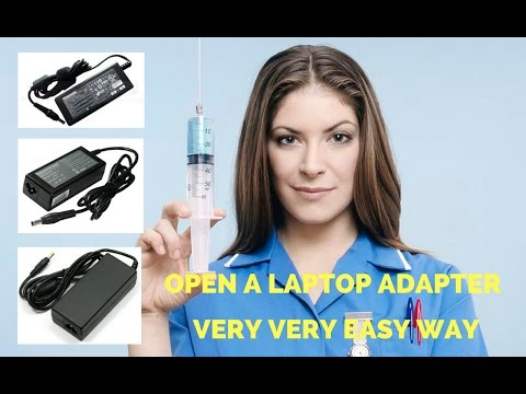 How To Open A Laptop Adapter - laptop adapter disassemble trick