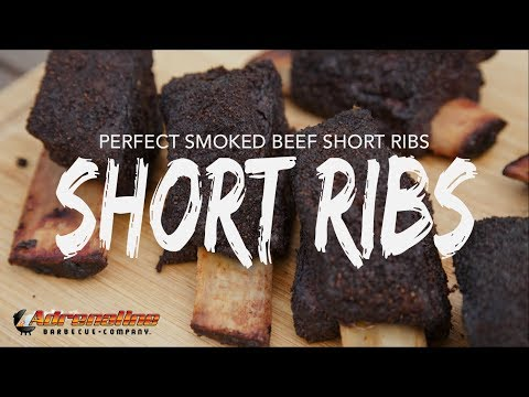 Beef Short Ribs Recipe  - Smoked Texas Style Beef Short Ribs on the Weber BBQ