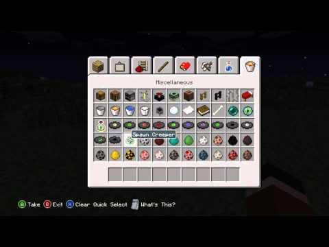 Minecraft Xbox 360 edition TU9 - Spawn Eggs Screenshot! NO Jungles or Ocelots?