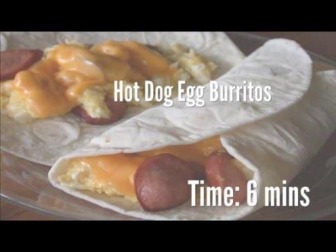 Hot Dog Egg Burritos Recipe