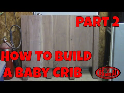 Walnut Baby Crib Part 2!!