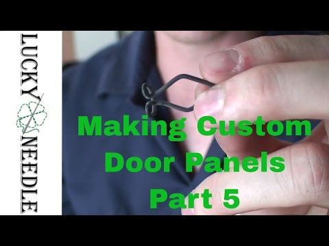 Automotive Upholstery - Making Custom Door Panels Part 5 - Installing Panel Clips