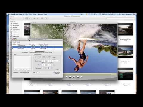 How to rotate the video on QuickTime Player 7