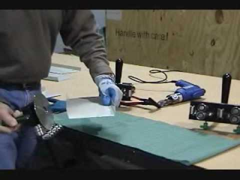 Versa-Bender bending and cutting sheet metal on the job site from zero to 180 degrees