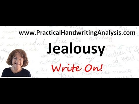 How to identify Jealousy from Handwriting - Graphology