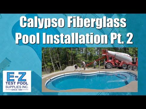 15x34 Calypso Trilogy Fiberglass Pool Installation  Pt.  2